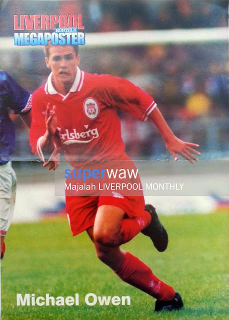 Poster Michael Owen Liverpool 1997