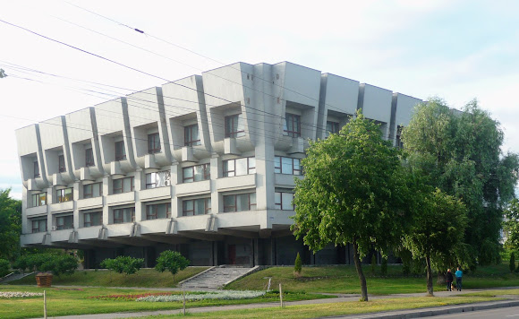 Сумы. ул. Героев Сумщины. Научная библиотека. 1987 г