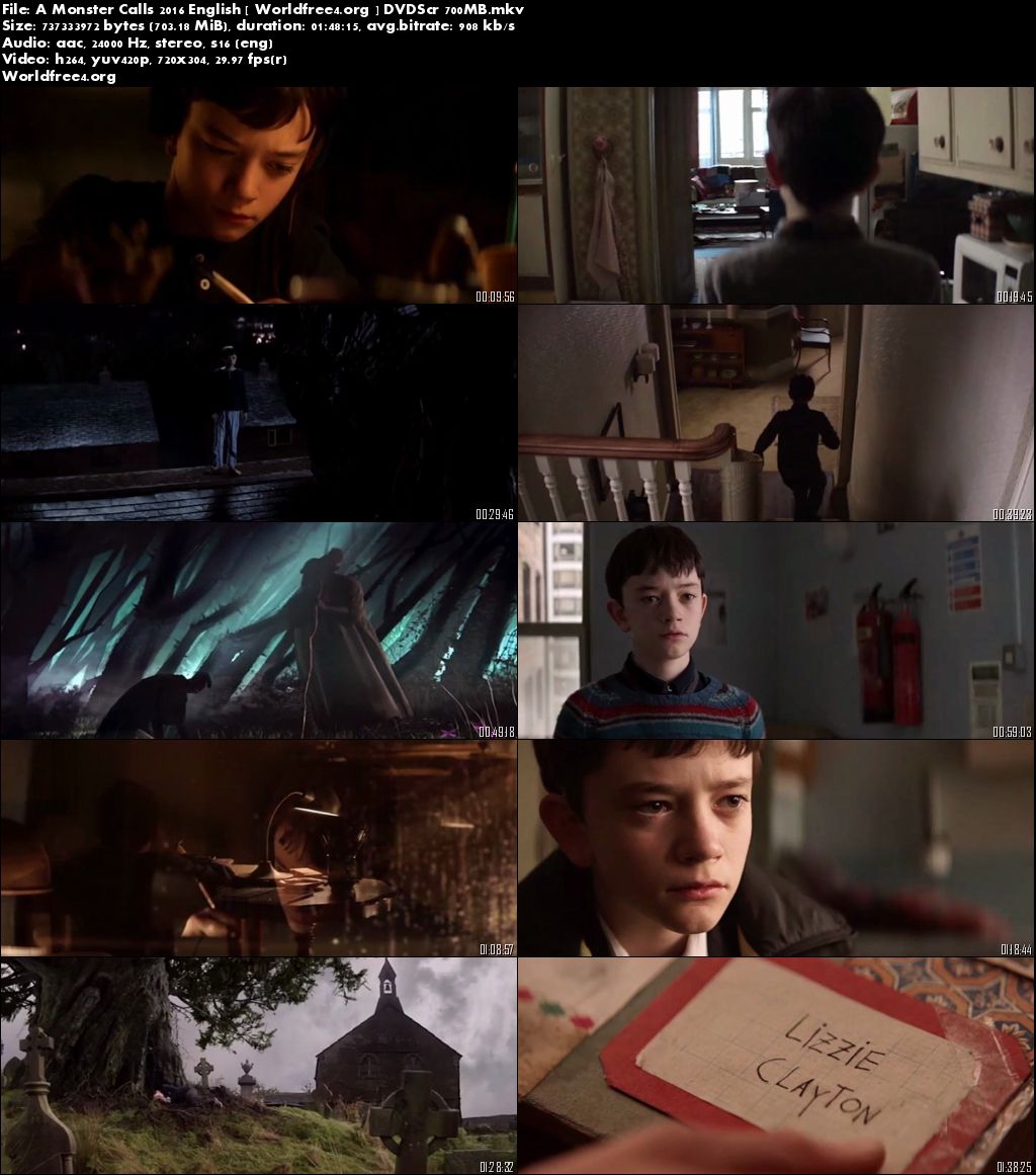 A Monster Calls 2016 DVDScr English 700Mb Download