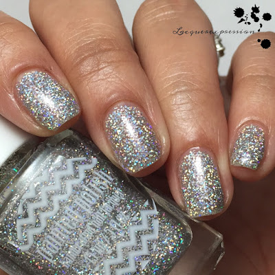 Nail polish swatch of Drunk on Holo by Polish Paint