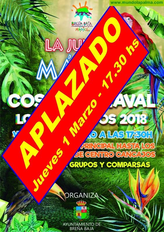 COSO LOS CANCAJOS: Aplazado para el 1 de marzo
