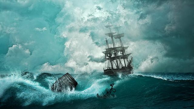 Obraz - sztorm na morzu