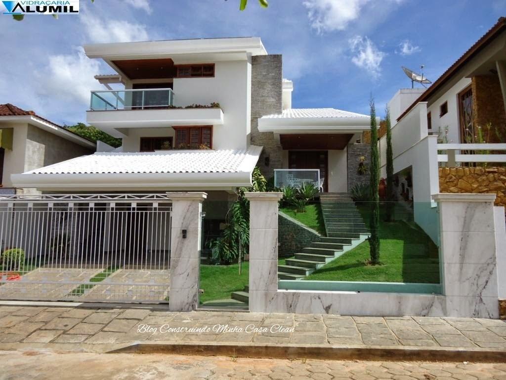Construindo minha casa clean fachadas de casas com muros for Todo para casa