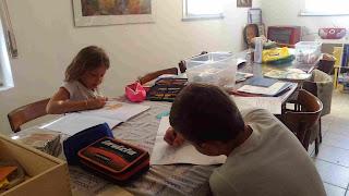 bambini estate compiti