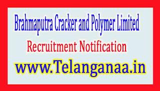 Brahmaputra Cracker and Polymer LimitedBCPL Recruitment Notification 2017