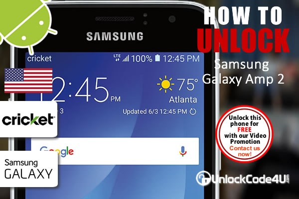 Factory Unlock Code Samsung Galaxy Amp 2 from Cricket