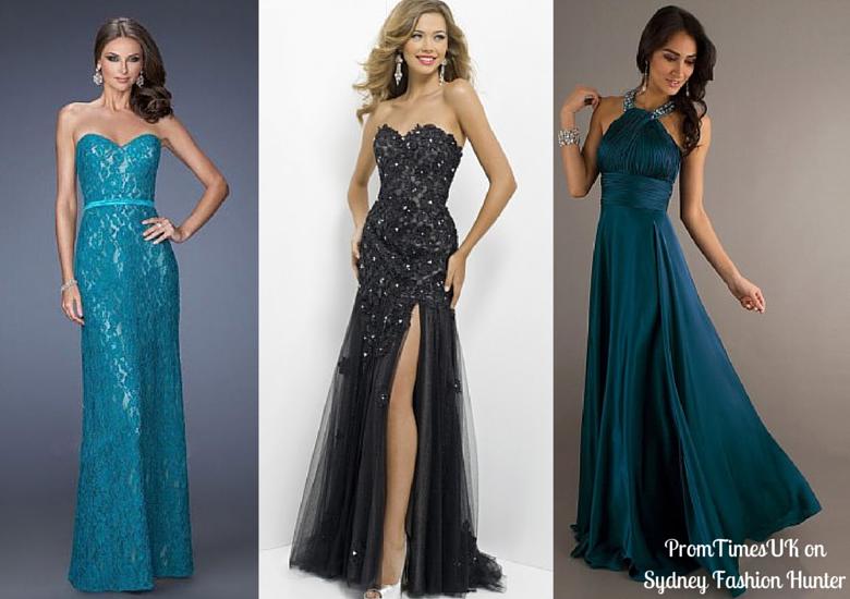 Teal Evening Dress, Black Evening Dress