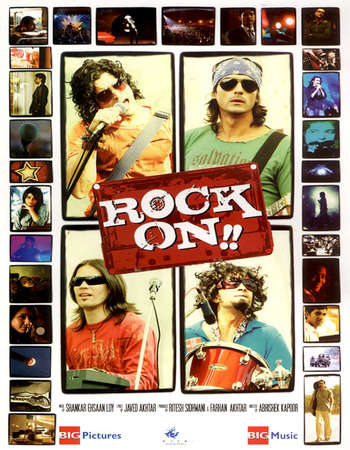 Poster Of Rock On!! 2008 Hindi Movie 600MB Bluray 720p ESubs HEVC Watch Online Free Download downloadhub.in