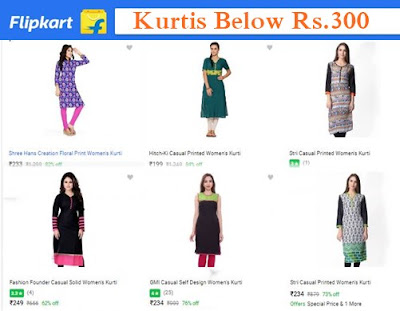 Kurtis on flipkart pricing below Rs.300 best buy options with offers. Kurti buying  offers on flipkart online shopping India. Kurtis for Rs.250 on flipkart. Women Kurtis for 200 ,300 flipkart, girls ladies kurtis best choices on flipkart.