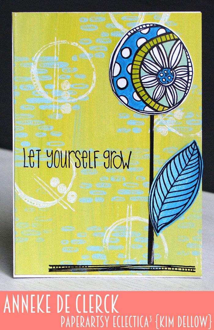 New PaperArtsy Eclectica³ {Kim Dellow} Products Showcase: Anneke De Clerck Single Bloom Card