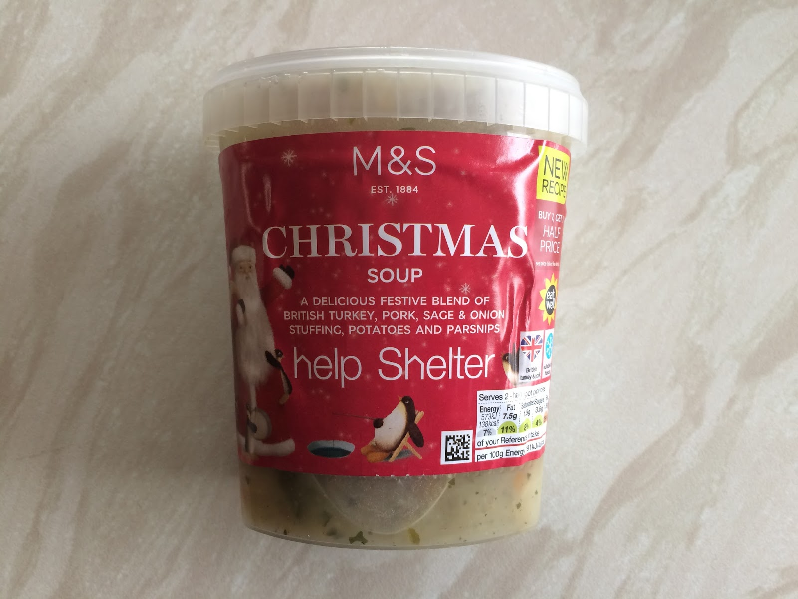 Christmas Soup.Reaching For Refreshment Snackmas Day 8 M S Christmas Soup