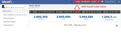 Saldo Rupiah Sudah Masuk (bitcoin)