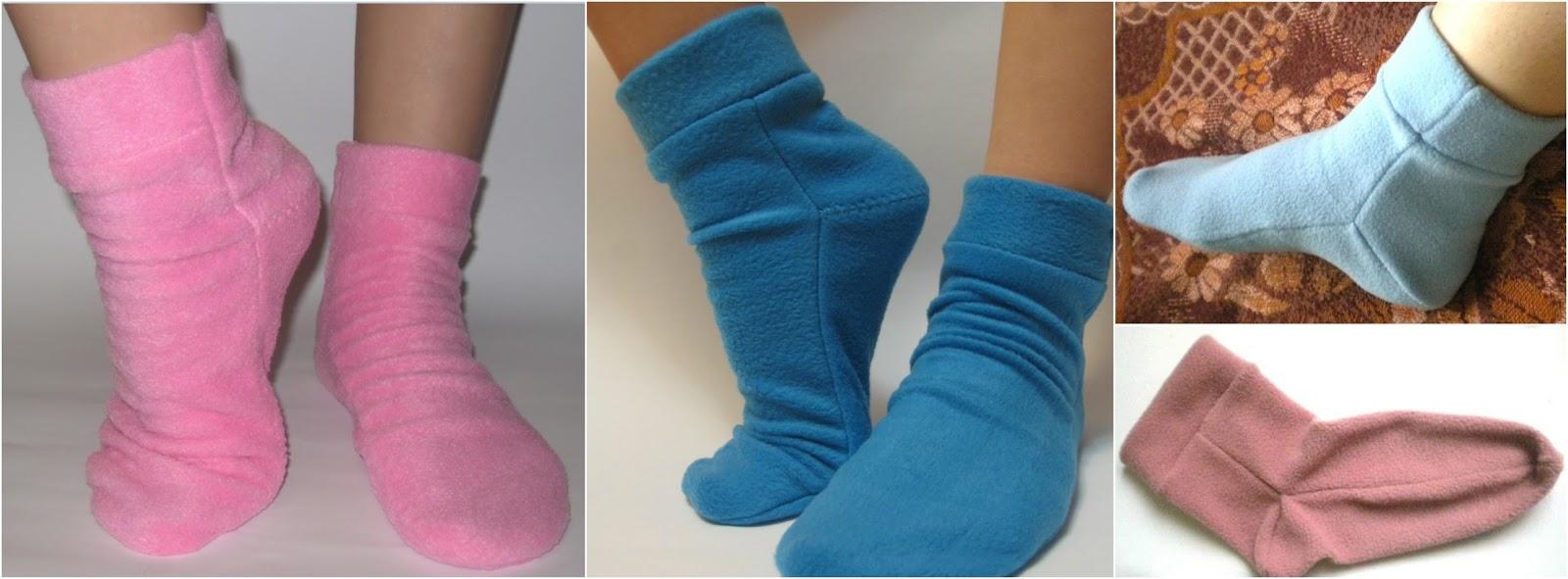 Mis puntadas preferidas: Calcetines para invierno de tela polar y ...
