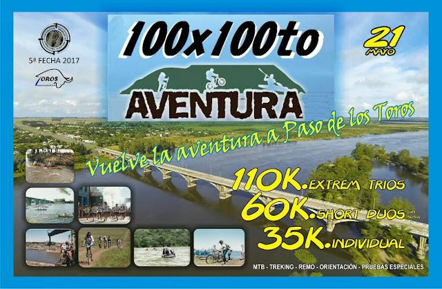 Aventura 100xr100to en Paso de los Toros (Tacuarembó, 21/may/2017)