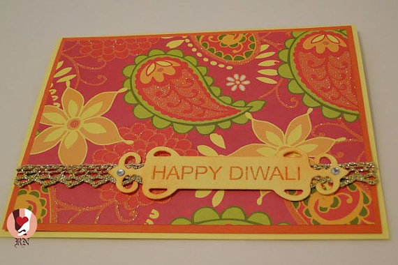Handmade Diwali Greetings Cards Images for Kids