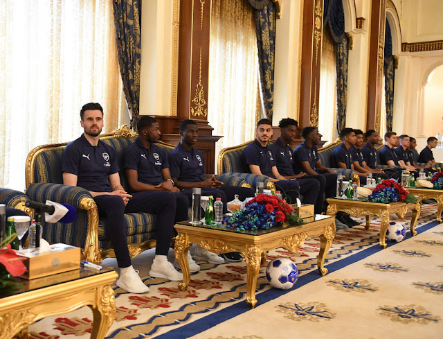 arsenal players at zabeel palace in dubai