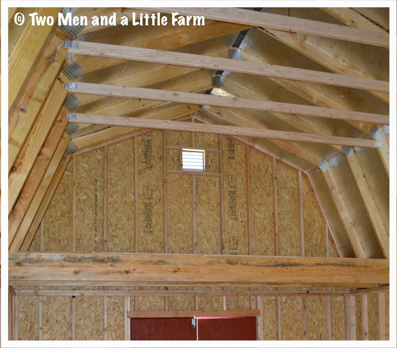 Two men and a little farm barn loft storage container ideas for Barn with loft