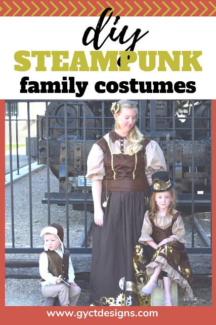 Create your own DIY steampunk costumes for the entire family with these easy to follow tutorials and great products from Cricut. #CricutMade #Cricut #ad