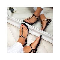 Sandales noir à clous