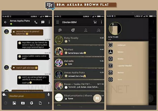 BBM Aksara Brown Flat V2.10.0.35