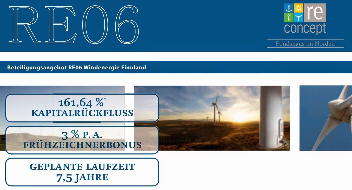 reconcept re06 windenergie finnland umweltfonds hochrentabel windkraft wind fonds 2015 Ylivieska Pajukoski seriös bewertung vergleich rabatt gutschrift
