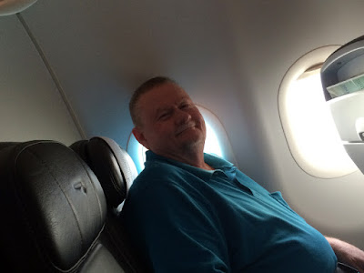 The Flight Staff Put a Smile on Paul's Face