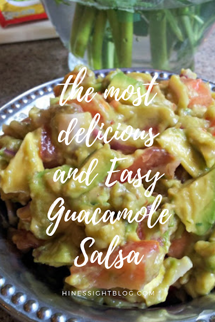 This is a quick and easy guacamole salsa for any night of the week. Great as an appetizer for entertaining in a pinch.
