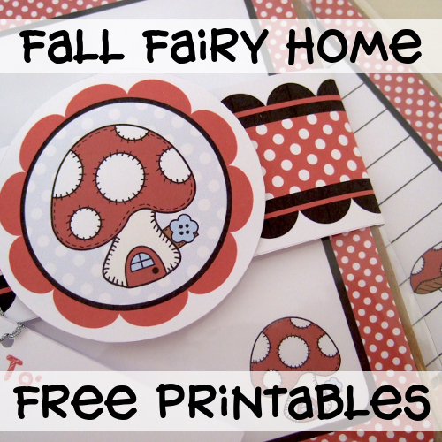 Fall Fairy Home Free Printables