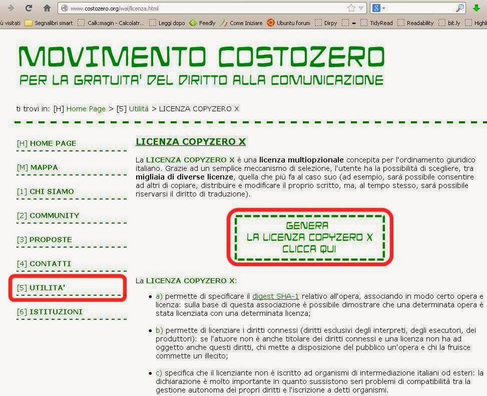 genera Licenza Copyzero X