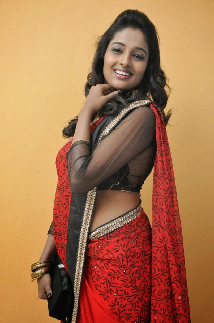 Amitha rao hot photos in saree at chandamama kathalu movie press meet