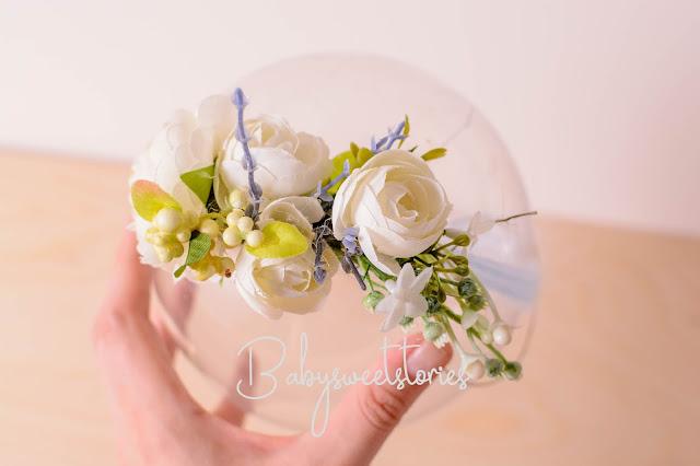 Newborn Headband,Flower Headband,Newborn photographer, prop vendor,  weddling flowers, wedding headband, flower decor, Newborn Tieback, Photo Prop,  Headwrap, Halo
