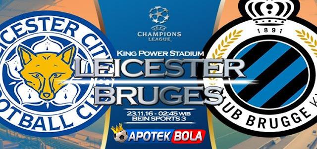 Prediksi Pertandingan Leicester City vs Club Brugge 23 November 2016