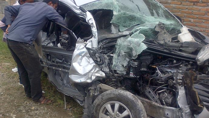 Setelah kecelakaan, sopir Bus BK 7205 DN melarikan diri, sementara bus tersebut ditinggalkan di lokasi kejadian,