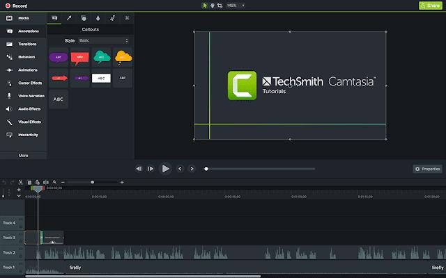 Camtasia برنامج تصوير الشاشة وسطح المكتب فيديو [record screen]