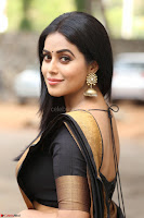 Poorna in Cute Backless Choli Saree Stunning Beauty at Avantika Movie platinum Disc Function ~  Exclusive 035.JPG