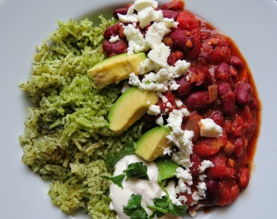 Mexican Bean Stew with Green Rice Gluten-Free