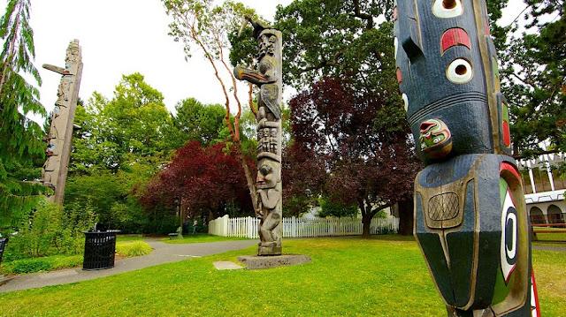Thunderbird Park em Victoria
