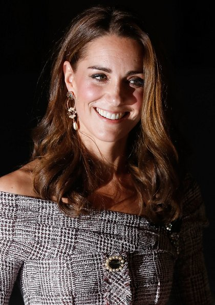 Kate Middleton Jewelery Erdem Floral Hoop Drop Earring