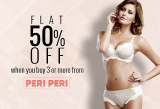 Flat 50% on Purchase of any 3 Peri-Peri Women's Innerwear at Zivame