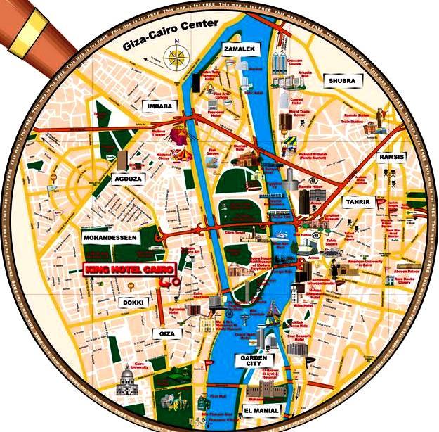 Mapa de localização do King Hotel