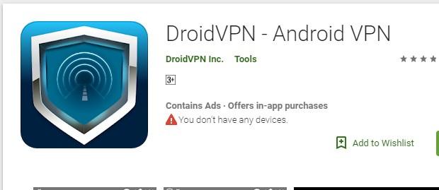 Internet Gratis DroidVPN - Android VPN Terbaru 2019