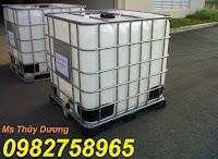 Tank đựng hóa chất, tank IBC, tank nhựa 1000l màu trắng giá rẻ