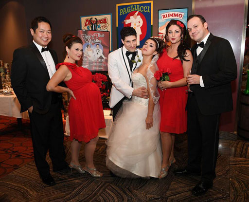 "The new cast of ""Tony n' Tina's Wedding"" at Ballys Las Vegas"