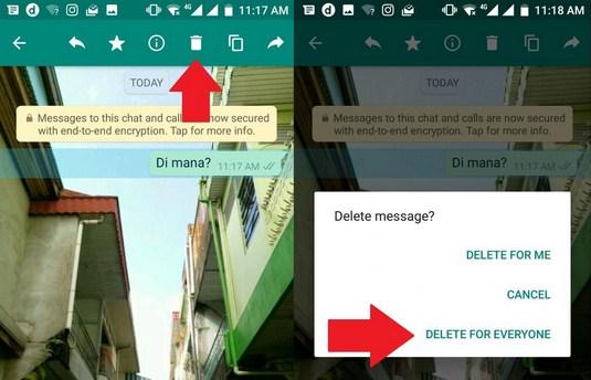 Cara Menghapus Chat, Video, atau Foto Terkirim di WhatsApp