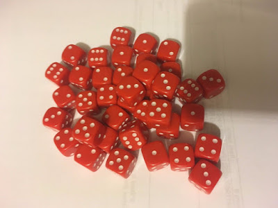 12mm Opaque Red Six Sided Spot Dice