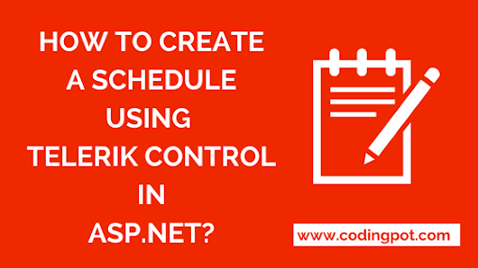 How to create a schedule using telerik control in asp.net?