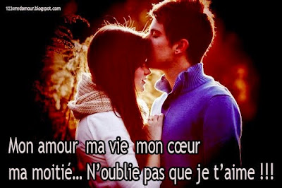 Message d'amour je t'aime fort