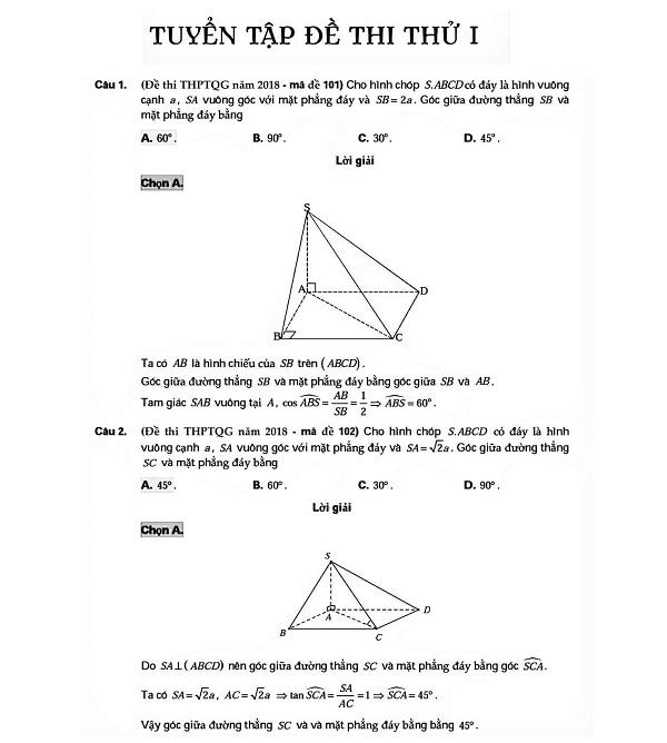 Luyện tốc độ và phương pháp giải nhanh thể tích khối tròn xoay