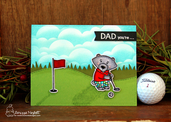 Golf Card by Larissa Heskett | Winston's Tee Time | Golfing Bear Stamp set by Newton's Nook Designs