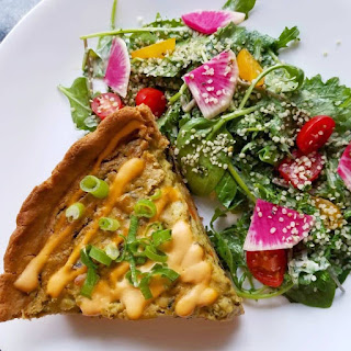 vegan quiche from Celest Cafe